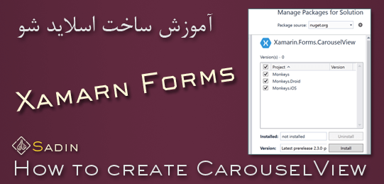how to create carousel view in xamarin forms